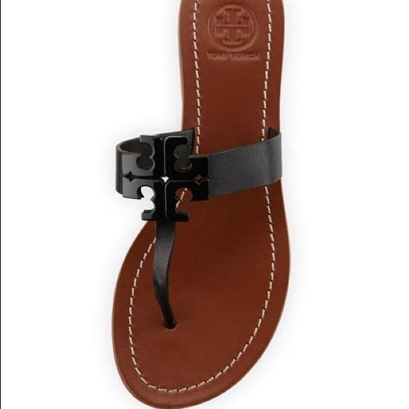 9a53d17fe NWT Tory Burch Black Moore Sandal